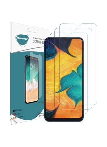 Microsonic Samsung Galaxy A30 Ekran Koruyucu Nano Cam (3'lü Paket) Renksiz